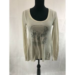 Free People Thermal White long sleeve top size S/P